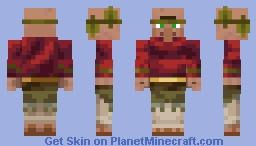 Player Savana Village Minecraft Skin