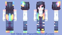 🌈 rainbow kitty Minecraft Skin