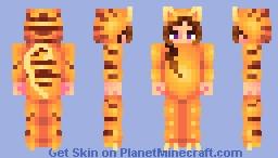 Stripped cat pajamas Minecraft Skin
