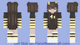 Bee Girl Skin Minecraft Skin