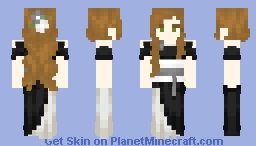 Young Lady in Black & White Minecraft Skin