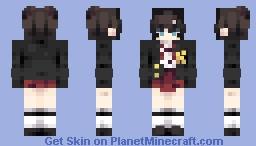 Maddie E in the Karakura high uniform Minecraft Skin