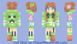 Girl in a creeper hoodie - RCE Minecraft Skin
