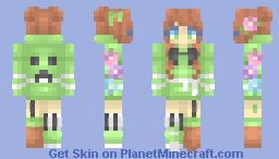 Girl in a creeper hoodie - RCE Minecraft Skin