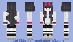 Kuri a city girl with winter clothing Minecraft Skin