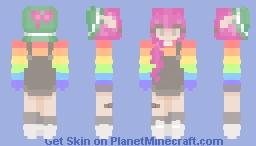 Pink hair pride Minecraft Skin
