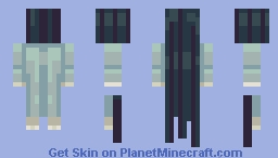 Floating Ghost Girl! Minecraft Skin