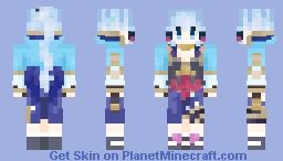 Kamisato Ayaka Minecraft Skin