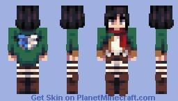 Mikasa Ackerman Minecraft Skin