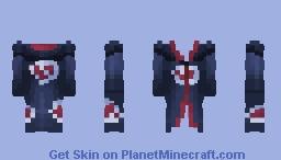Akatsuki Robe | Hood Variant Minecraft Skin