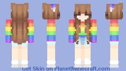 ~Aurora~ but w/ brown hair Minecraft Skin