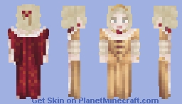 1720s Golden Gown Minecraft Skin