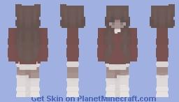 tennis skirt and crewneck fit Minecraft Skin