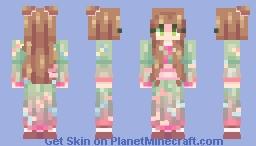 .+ * spring green * +. Minecraft Skin