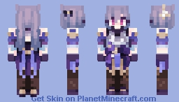 ~ Keqing ~ | Genshin Impact Minecraft Skin