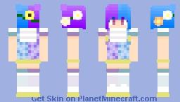 Purple and Blue Girl Minecraft Skin