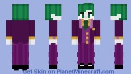 The Joker (Stylized) Minecraft Skin