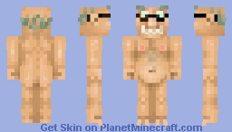 Old naked guy  (happy birthday skin for a good friend) Minecraft Skin