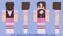 My attempt at making a pink E-girl Minecraft Skin