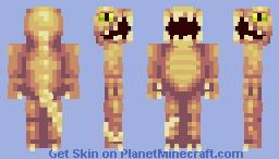 Carnivorous dinosaur (Tacoshet's minimal monsters/10 colors) Minecraft Skin
