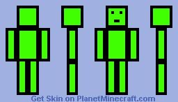 LockDownLife Skin [Lime] Minecraft Skin