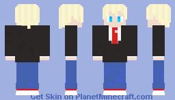 Business Man Cartoon Eyes Minecraft Skin