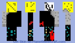 old and tattered with stone arm Minecraft Skin