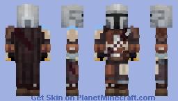 The Mandalorian (old beskar armor) Minecraft Skin