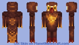 Brown owl (gift for Melygoomba) Minecraft Skin