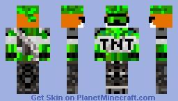 Green Goggle Fox Minecraft Skin