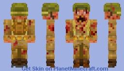 Zombie WW2 Minecraft Skin