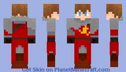 [Commision]Arthur Pendragon Minecraft Skin