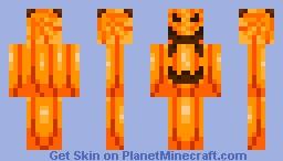Halloween Pumpkin Skin Minecraft Skin