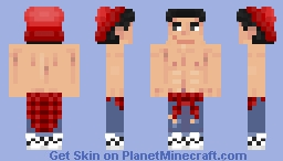Topless cool Guy Minecraft Skin