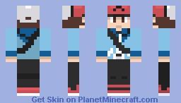 pokemon black trainer Minecraft Skin
