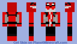 Red power ranger beast morphers Minecraft Skin