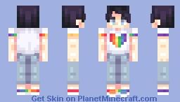 pride pride pride 🌈 | (+1 different skin tone in desc.) Minecraft Skin
