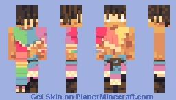 Rainbow sands Minecraft Skin