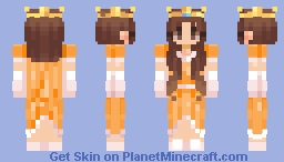 Princess Pumpkin Minecraft Skin