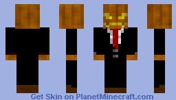 Haloween man Minecraft Skin