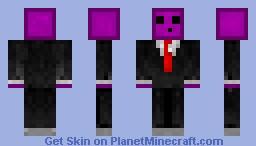 Purple slime in tuxedo Minecraft Skin