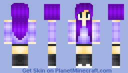 Purple Hair. Minecraft Skin