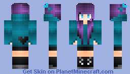 ~Purple Hair Girl~ (Request) Minecraft Skin