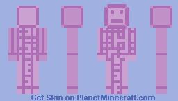 purpur block man Minecraft Skin