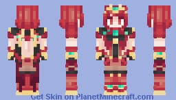 Pyra (Smash Bros Costume) [Xenoblade] Minecraft Skin