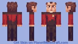 Omnipotent Q Star Trek TNG (starfleet uniform) Minecraft Skin