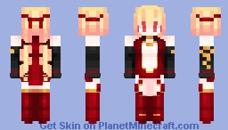 🔥 Queen of Embers Original Costume (redo) 🔥 Minecraft Skin