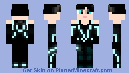 Quorra: tron legacy, improved skin tone and eyes. Minecraft Skin