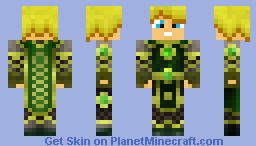Emerald Paladin Minecraft Skin