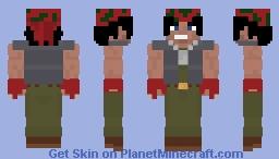 Ralf Jones KOF 2k Minecraft Skin
